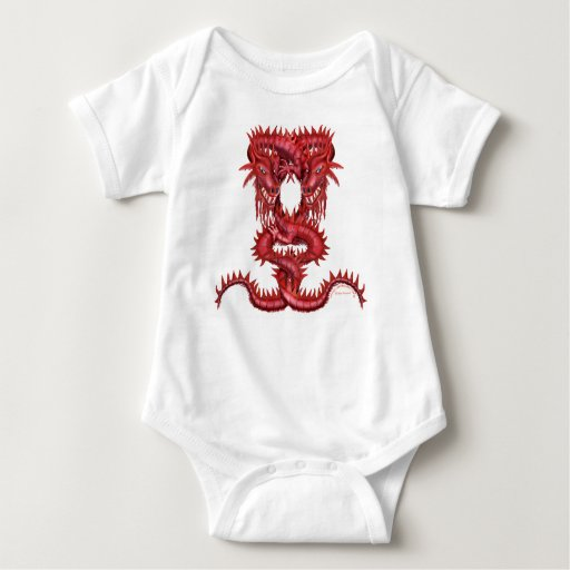 Double Red Dragon Infant Creeper