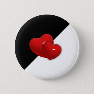Double red Hearts Button