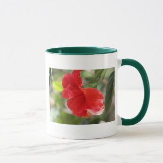 Double Red Hibiscus Mug