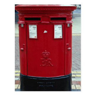 Double red letter boxes postcard