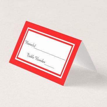 Wedding Themed Double Red Trim - Escort Card