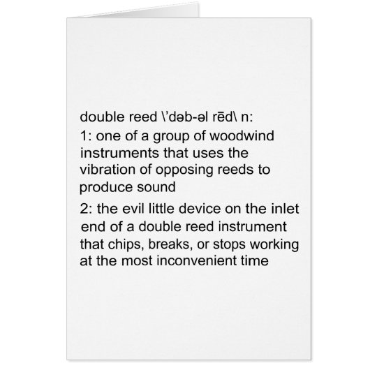 Double Reed Definition Card