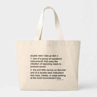 Double Reed Definition Large Tote Bag