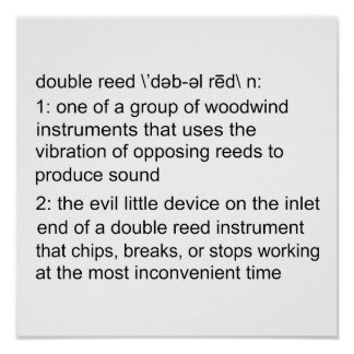 Double Reed Definition Poster