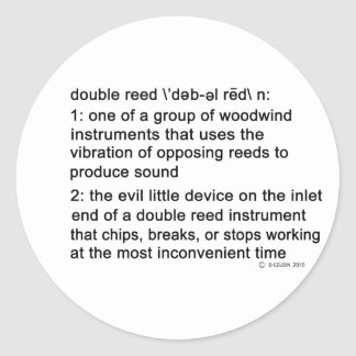 Double Reed Definition Sticker