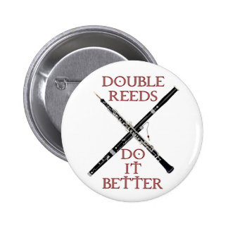 Double Reeds 2 Inch Round Button