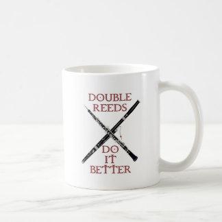 Double Reeds Classic White Coffee Mug
