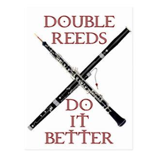 Double Reeds Postcard