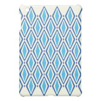 Double Retro Diamond Blues Pattern iPad Mini Cover