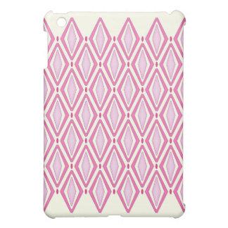 Double Retro Diamond Pattern (Pink) Case For The iPad Mini