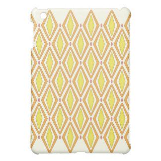 Double Retro Diamond yellow Case For The iPad Mini