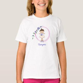 Double Ring Violet Ballerina Kids T-Shirt