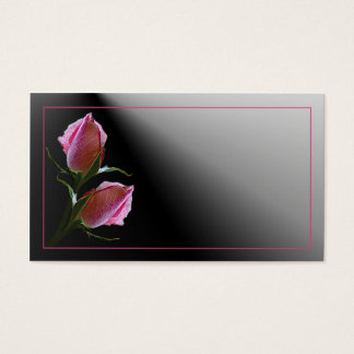 Double Rose on Black Business Card