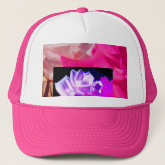 Double Roses in Purple & Pink Trucker Hat