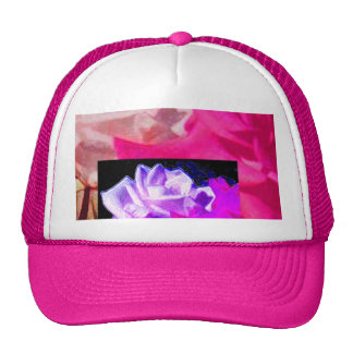 Double Roses in Purple & Pink Trucker Hat