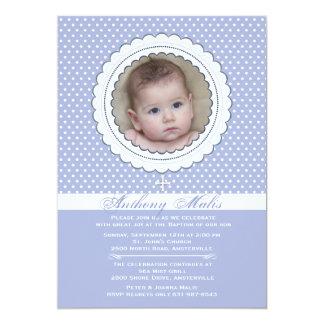 "Double Scalloped Frame Photo Invitation 5"" X 7"" Invitation Card"