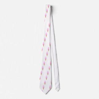 Double Scoop Ice Cream Cone - Pinks Neck Tie