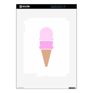 Double Scoop Ice Cream Cone - Pinks Skins For iPad 2