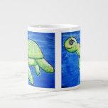 Double Sea Turtle Jumbo Mug 20 Oz Large Ceramic Coffee Mug