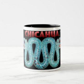 """Double Serpent"" Two-Tone Coffee Mug"