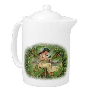 Double Shamrock Fairy Tea Pot - 1B