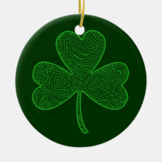 Double Shamrock Ornament