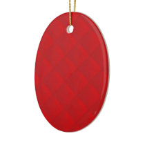 Double Sidded Cranberry Christmas Red Quilted Ceramic Ornament