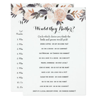 Double Side Bridal Shower Games- Groom Say| Rather Card