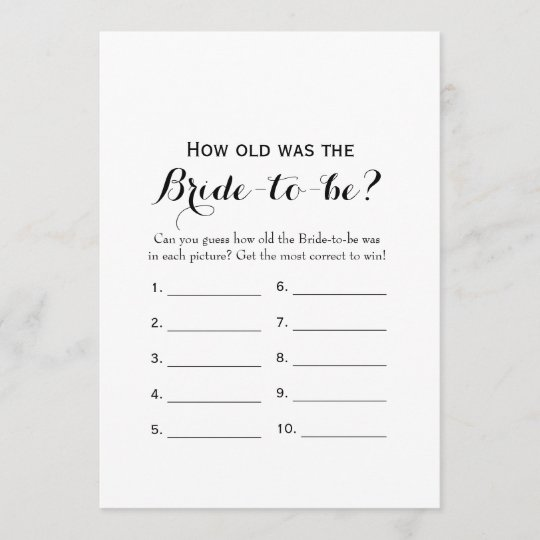 double side bridal shower games how old advice