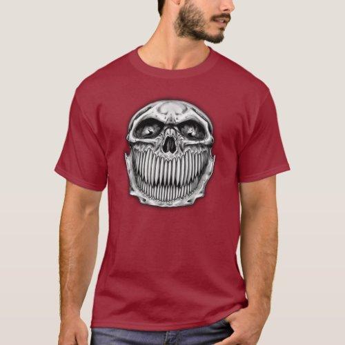 Double Side Happy and Sad Skull T_Shirt