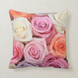 double side pastel rose pillow