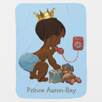 Double Side Print Ethnic Prince Phone Personalized Baby Blanket