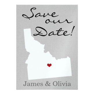 Double Side Save the Date with ID State Personalized Invitation