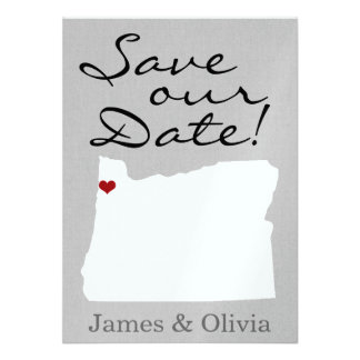 Double Side Save the Date with OR State Invitation