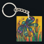 """Double sided acrylic keyring: Dragonfly Series Keychain<br><div class=""""desc"""">Spread joy wherever you go with this dragonfly key ring.</div>"""