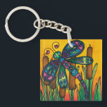 "Double sided acrylic keyring: Dragonfly Series Keychain<br><div class=""desc"">Spread joy wherever you go with this dragonfly key ring.</div>"