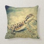 double sided bearded dragon (lizard) pillow