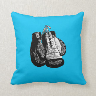 double sided boxing glove skull headphones cushion throw pillow