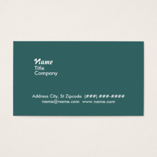 double sided business card - white on teal