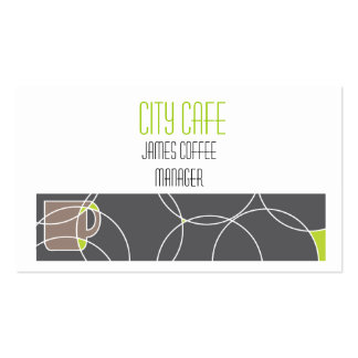 Double sided cafe business card