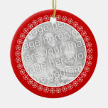 Double sided Christmas photo ornament | Add images