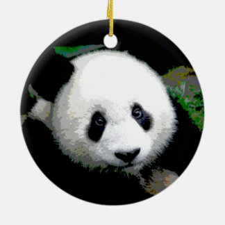 Double Sided Cool Panda Christmas Tree Ornament