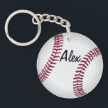 "Double Sided Custom Baseball Key Chain<br><div class=""desc"">Add a name to one side and number to the other to create your own unique double-sided baseball key chain.</div>"