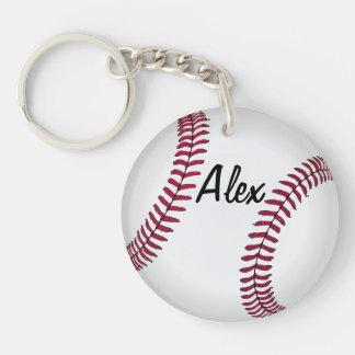 Double Sided Custom Baseball Key Chain