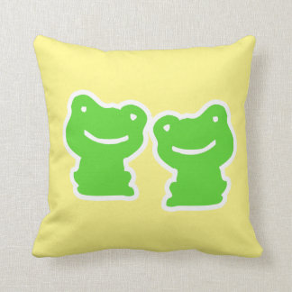 Double Sided Cute Frogs Throw Pillow