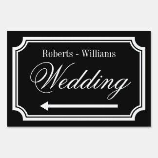 Double sided directional signage wedding yard sign