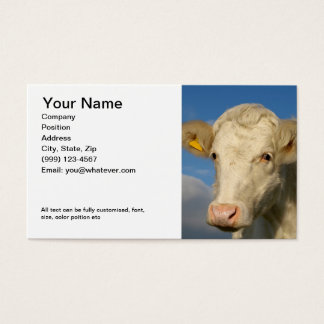 Double sided Farming Business Card