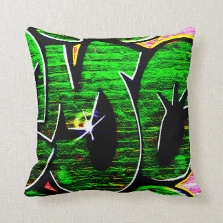 Double Sided Graffiti 1819 Throw Pillow