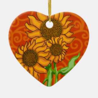 Double-Sided Heart Ceramic Christmas Ornament