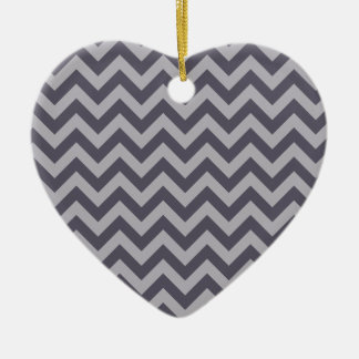 Double sided heart ceramic ornament